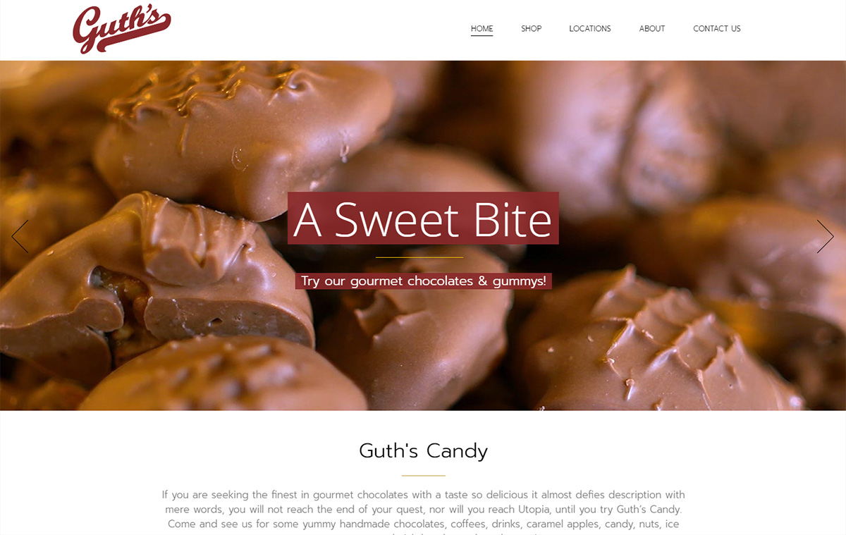 Guth's Candy – Delicious New Website